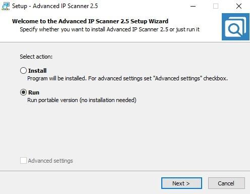 Advanced IP Scanner Portable