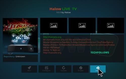 Halow Live TV Kodi Addon