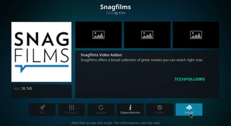 SnagFilms Kodi Addon