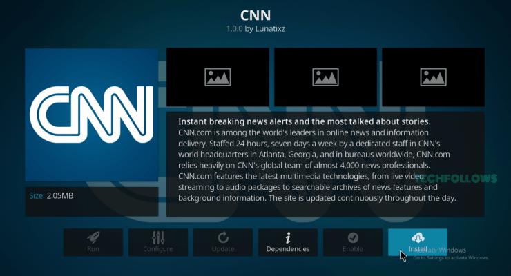 CNN on Kodi