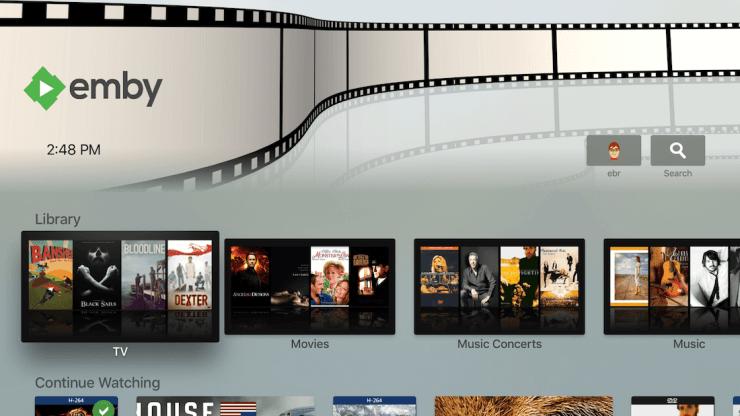 Emby Apple TV