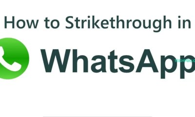 How to Strikethrough in Whatsapp