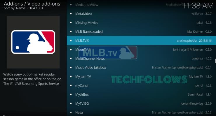 MLB.TV Kodi Addon?