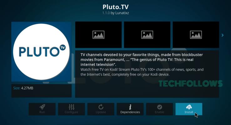 Pluto.TV Kodi Addon