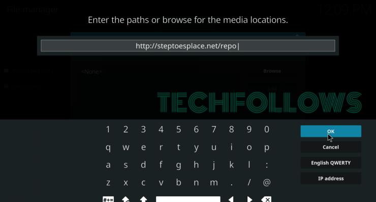 Enter the URL