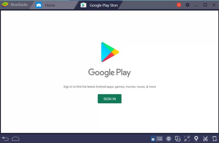 Sign into Google Play