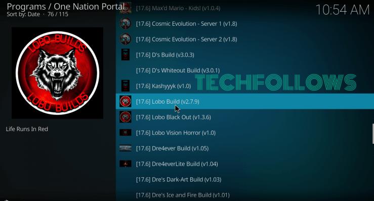 Lobo build on Kodi 18.2 Leia