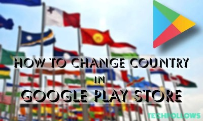 Change Country in Play Store