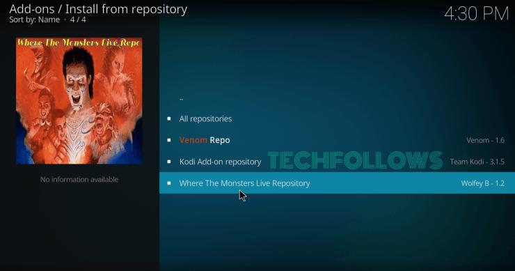 Select the Repo