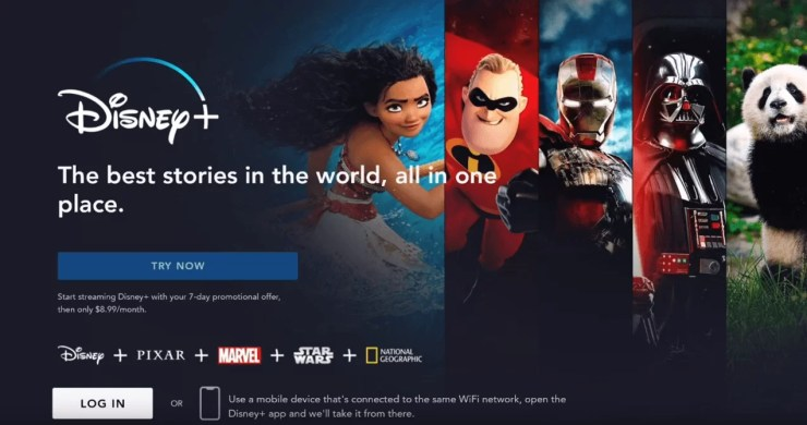 Disney Plus App on Xbox One