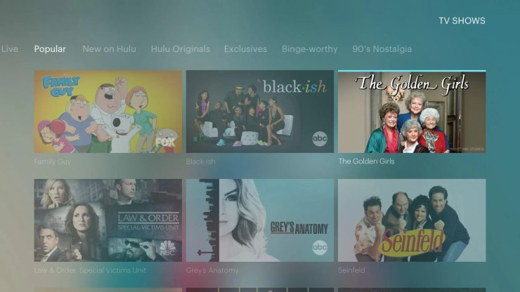 Hulu Live on PlayStation 4