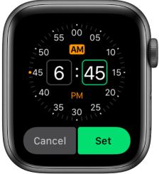 Add Alarm on Apple Watch