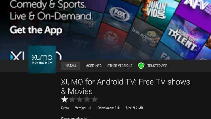 Sideload Xumo App