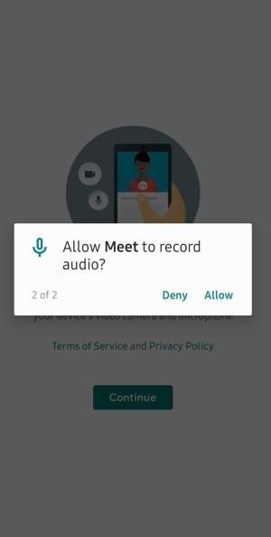 Allow Meet to Record Audio