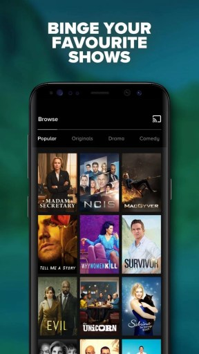 CBS All Access Chromecast using Mobile