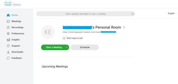 start a meeting on cisco webex