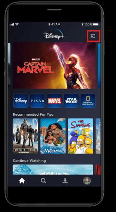 Cast Disney Plus on Vizio Smart TV