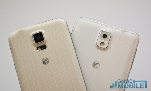 samsung galaxy s5 and note 3