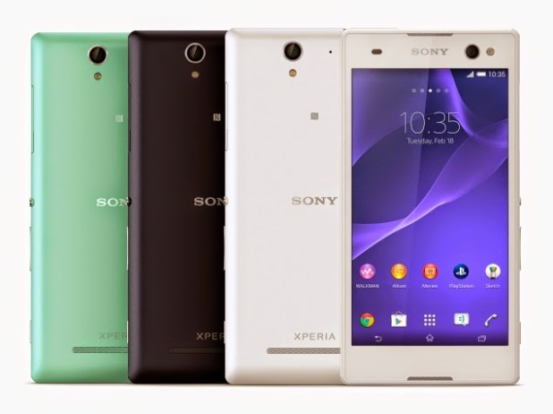 sony_xperia_c3_front_back_all_colours