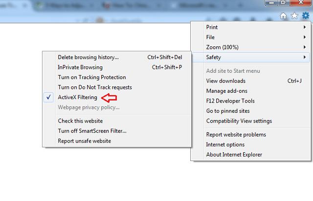 ActiveX-filtering-IE