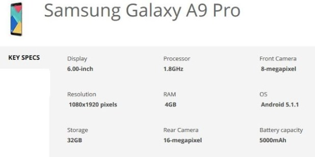 samsung-galaxy-a9-pro-specification-techfoogle.com