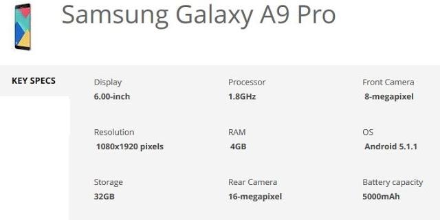 samsung-galaxy-a9-pro-specification-techfoogle.com