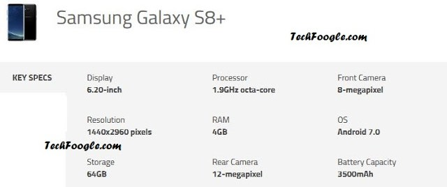 galaxy s8+-specs