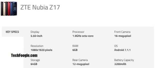 nubia-z17-specs