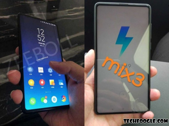 Xiaomi Mi Mix 3's New Live Image Leaked No Chin and Extremely Thin Bezels