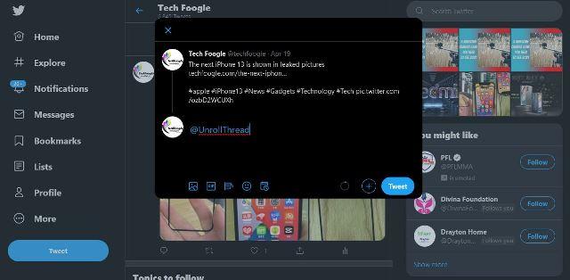 unrollthread save Twitter Threads