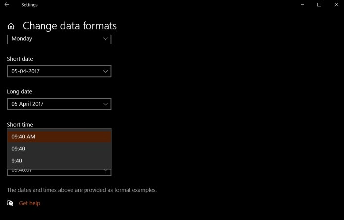 how to change windows 10 time format 12 hour