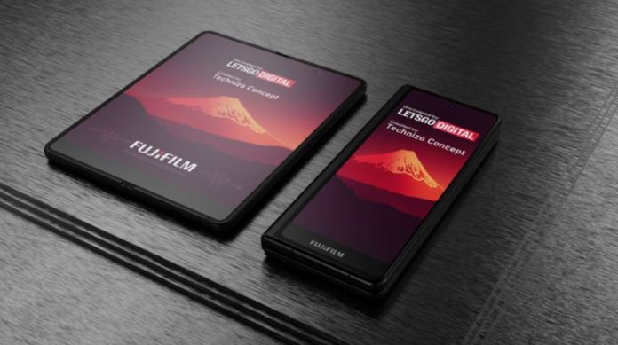 Fujifilm Patent for a Foldable Phone with a Stylus Pen Has Been Revealed