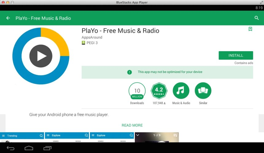 PlaYo - Free Unlimited Music for PC / Windows 7/8/10 / Mac