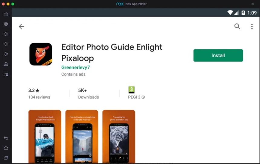 enlight-pixaloop-for-pc-using-android-emulator