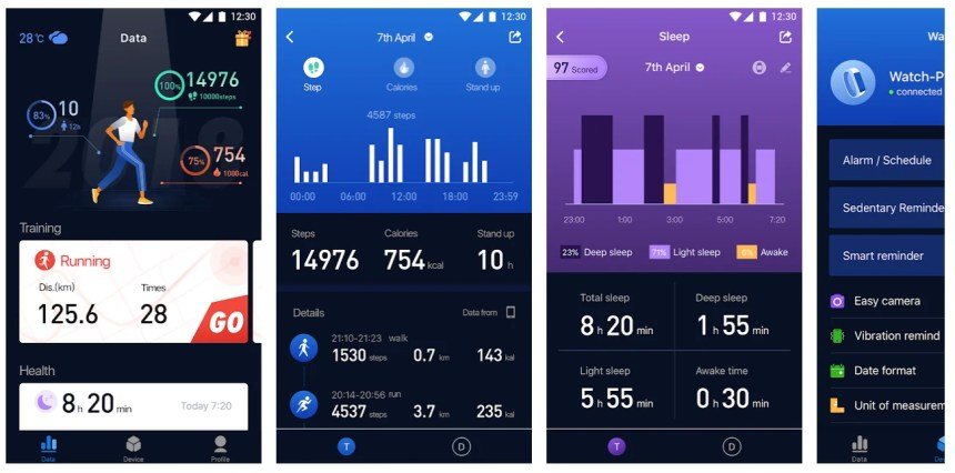 zeroner-app-screens