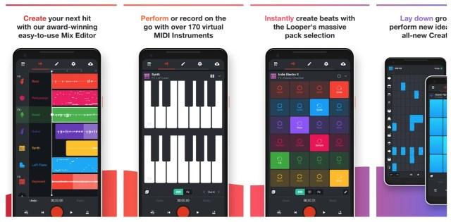 bandlab-android-app-screens
