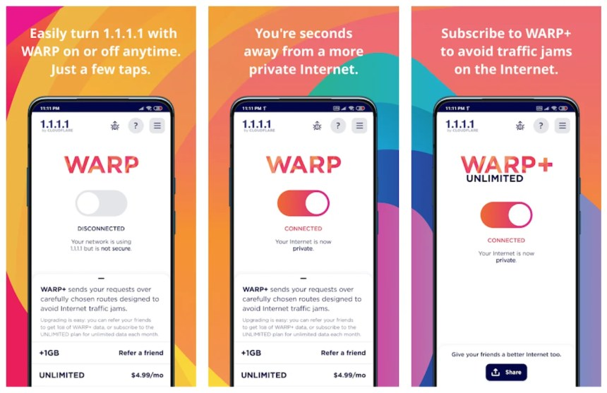 warp-vpn-features