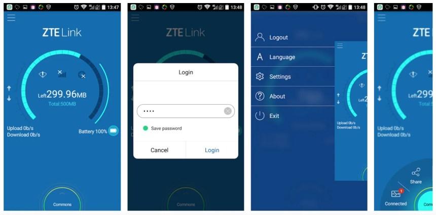 ZTELink-app-android-screenshots