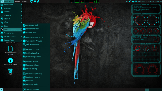 parrot-sec-forensic-os