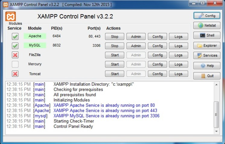 xampp-service-start