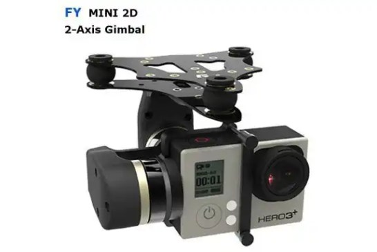 Feiyu Tech FY Mini 2D Brushless Gimbal for Gopro4 Gopro3 +