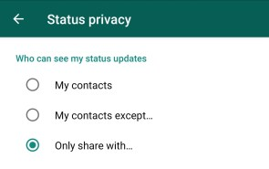 Whats App Only Share with setting