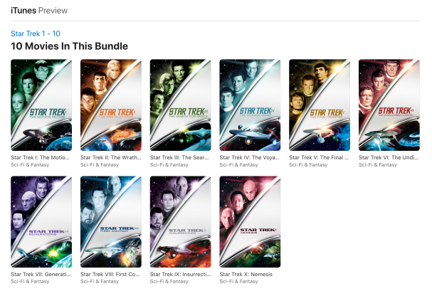Star Trek Movies 1 - 10