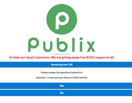 publix scam question 1