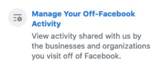 Manage Off-Facebook