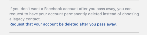 FB Delete after death
