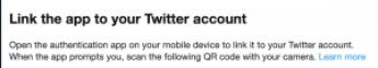 Twitter 2FA QR Set Up