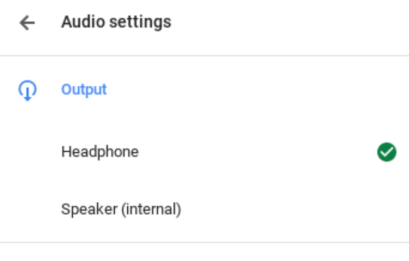 chromebook audio output