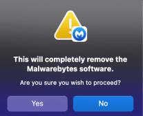Malwarebytes uninstall step 2