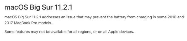 macOS 11.2.1 update info